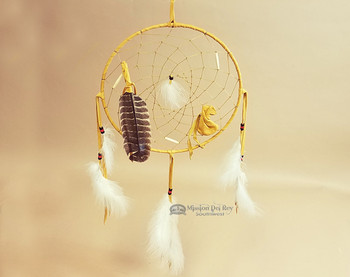 Gold Deerskin Dreamcatcher
