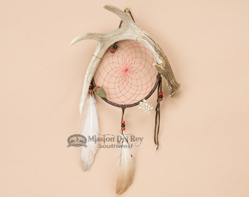 "Antler Dreamcatcher Wall Art - 6"" Red Webbing"