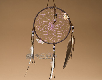 "6"" Native American Dreamcatcher - Purple"