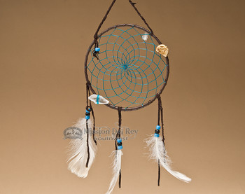 "6"" Native American Dreamcatcher - Turquoise"