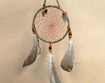 """Native American colored web dreamcatcher  4"""""""