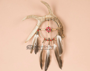 Navajo Indian Medicine Wheel Antler 6""