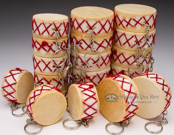 20 Mini-Drum Keychains -Wholesale Lot