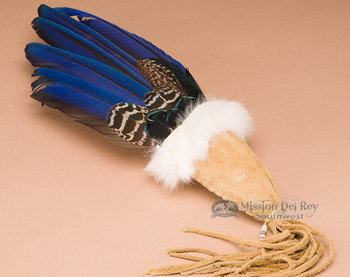 Macaw feather smudging fan