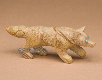 Hand Carved Stone Zuni Fetish -Fox (f17)