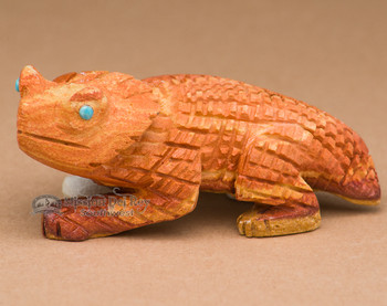 Hand Carved Stone Zuni Fetish -Horned Toad (f21)