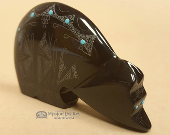 Hand Etched Etched Stone Zuni Fetish -Bear