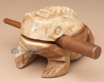 Carved Wooden Texas Croaking Frog