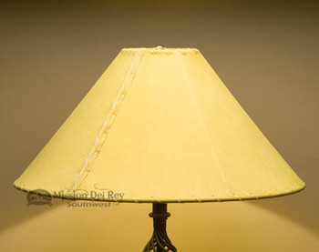 "Western Leather Lamp Shade - 20"" Gold Pig Skin"