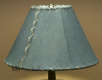 """Western Leather Lamp Shade - 12"""" Green Pig Skin"""
