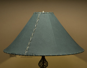 "Western Leather Lamp Shade - 22"" Green Pig Skin"
