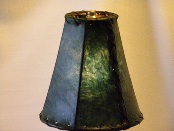 Green Rawhide Bell Lamp Shade 8""