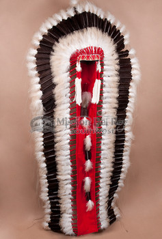Native American Double Trailer Headdress (wall display shown)