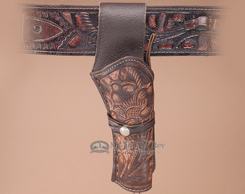 "Tooled Western Gun Holster 8"" -Right Handed (h1)"