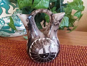 Horse Hair Wedding Vase - Sun Face