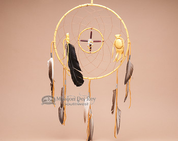 "Navajo Dreamcatcher Medicine Wheel Combo - 12"" Gold"