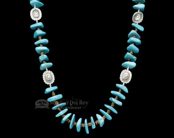 """Navajo Indian Beaded Necklace 27.5"""""""