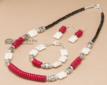Navajo Beaded Jewelry - Necklace, Earring & Bracelet Set