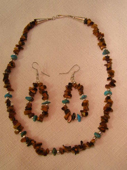 """Native American Navajo Jewelry -Necklace & Earring Set 16"""""""