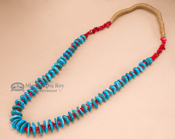 """Native American Navajo Jewelry -Turquoise Necklace 29"""""""