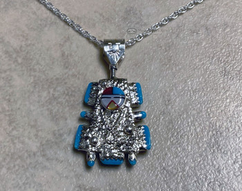 Zuni Indian Jewelry Silver Necklace -Front