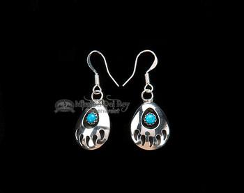 Navajo American Indian Earrings -Bear Paws