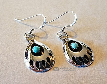 American Indian Earrings -Bear Paw