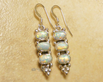 Navajo Native American Opal Earrings