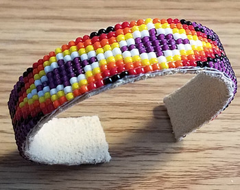 Native American Beaded Cuff Bracelet -Navajo