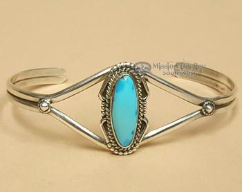 American Indian Sterling Silver Cuff Bracelet -Navajo