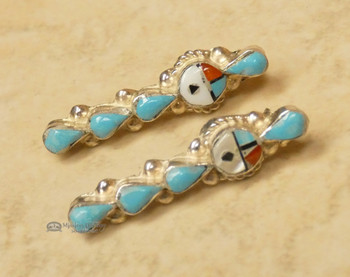 Native American Silver Earrings - Turquoise