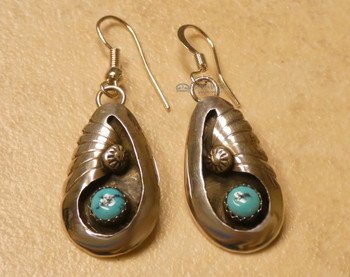American Indian Navajo Silver Earrings