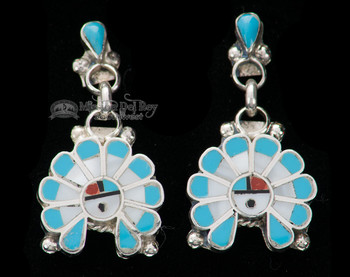 Zuni Native American Silver Earrings