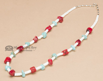 """Navajo Indian Beaded Necklace 22"""""""