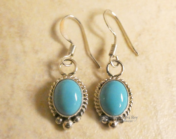 Turquoise and Sterling Silver Pendant Earrings