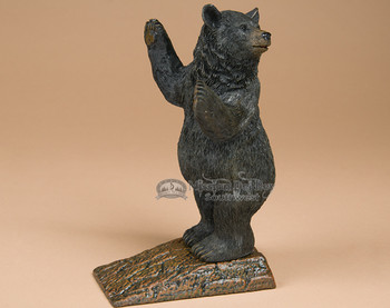 Rustic Door Stop -Black Bear