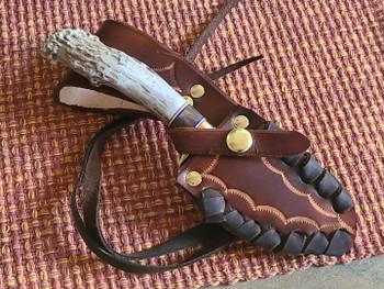 Hand laced Leather sheath