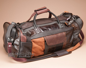 Multi-color Cowhide Travel Bag