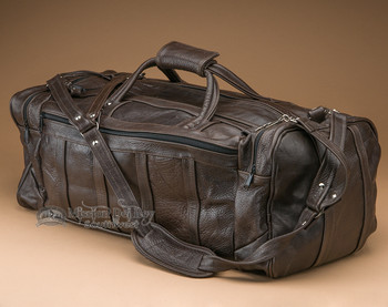 Large Rustic Leather Duffle Bag
