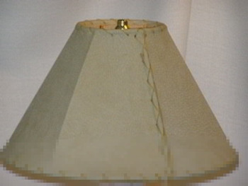 "Southwestern Leather Lamp Shade 14"" dia."