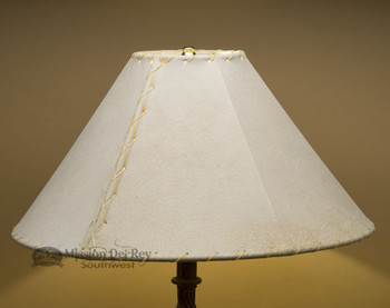 "Southwestern Leather Lamp Shade - 18"" Natural Pig Skin"