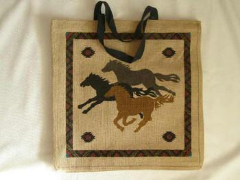 Horses Market Bag 18x18