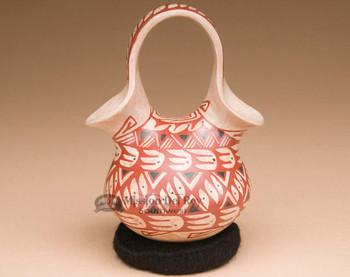 Unique Mata Ortiz Pottery Wedding Vase