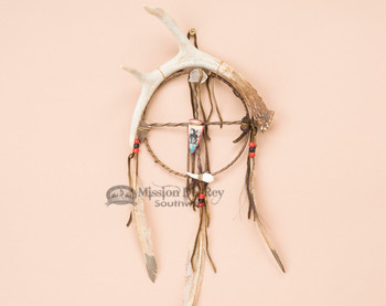 Antler Wall Art - Medicine Wheel Painted Arrowhead