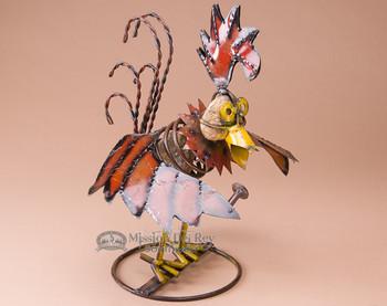"Rustic Metal Yard Art 14"" -Rockin Rooster"