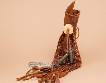 "Pueblo Indian Leather Medicine Bag 3""x5"" (b14)"