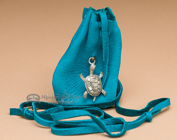 """Cherokee Indian Medicine Pouch 3.25"""" -Turtle (b16)"""