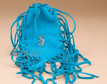 Turquoise Medicine Bag - Kokopelli