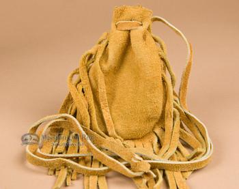 Native American deer skin medicine bag.
