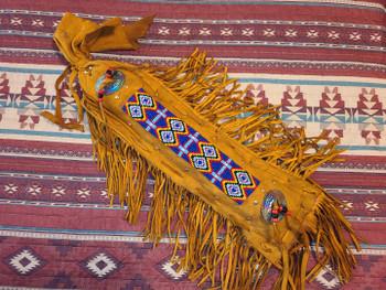 "Native American Beaded Concho Bag 19"" -Navajo"